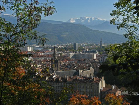 Maps of Grenoble France and Region