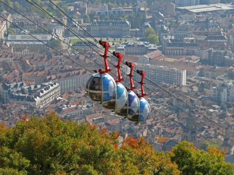 Cable Cars in Grenoble France