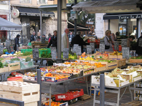 Outdoor Market in Grenoble France