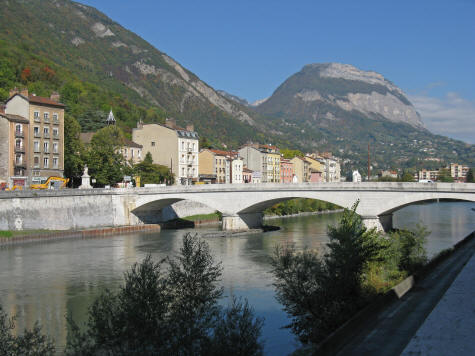 Isere River in Grenoble France